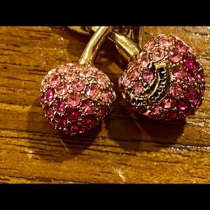 Juicy Couture Jewelry - Juicy Couture Golden Pave Cherry Charm